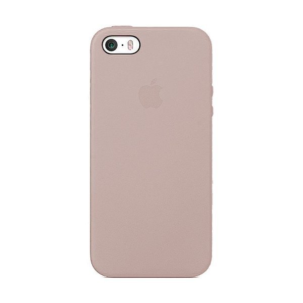 Capa Iphone SE Silicone Case Apple Areia Rosa