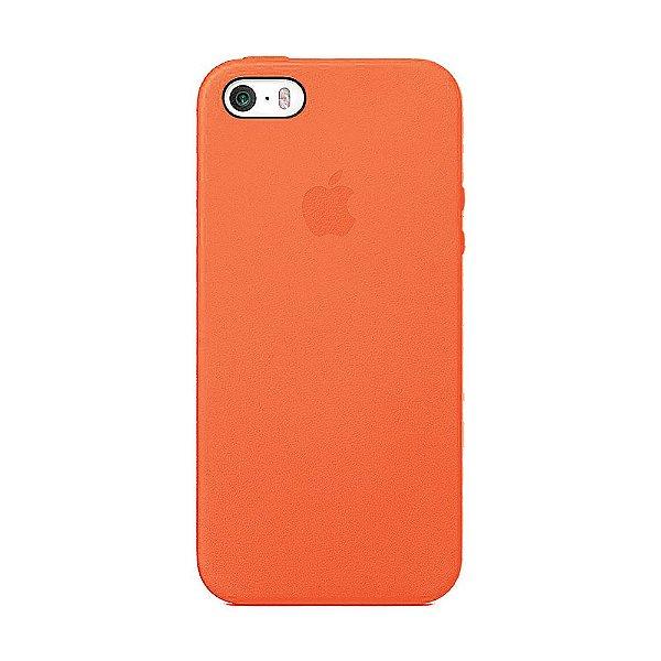 Capa Iphone SE Silicone Case Apple Laranja