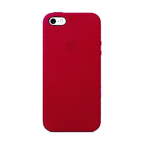 Capa Iphone SE Silicone Case Apple Rose Red