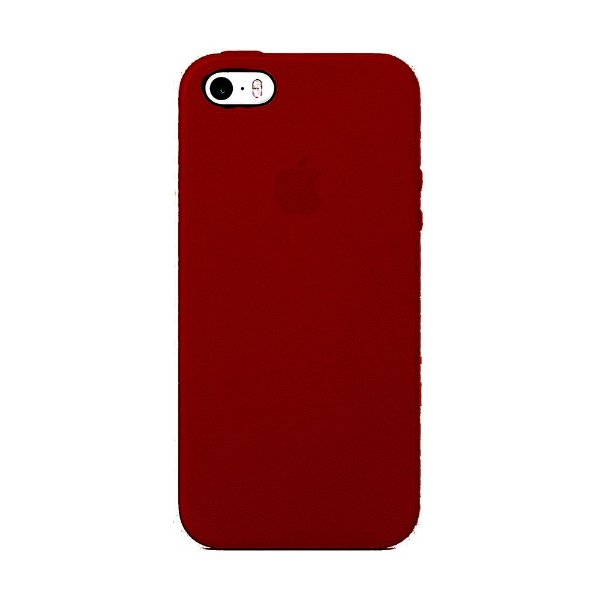 Capa Iphone SE Silicone Case Apple Vinho