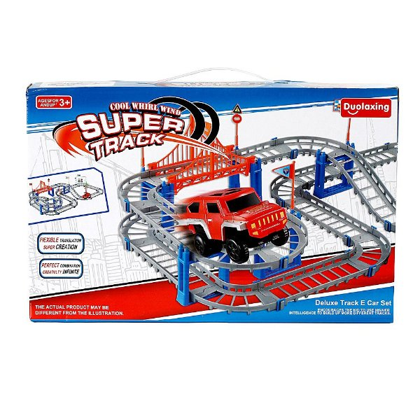 Pista De Carrinho Brinquedo Elétrico Super Track