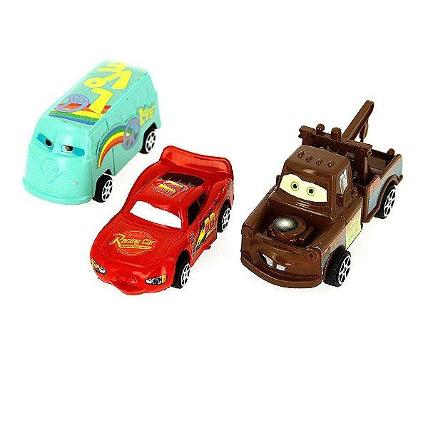 Kit Brinquedo 3 Carrinhos Carros Sport Car Dos Cars