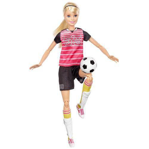Boneca Barbie Feita Para Mexer Esportista Futebol - Mattel