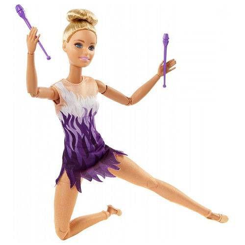 Boneca Barbie Feita Para Mexer Esportista Ginasta- Mattel