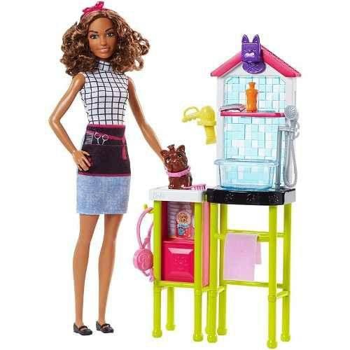 Boneca Barbie Profissão Pet Groomer Veterinária - Mattel