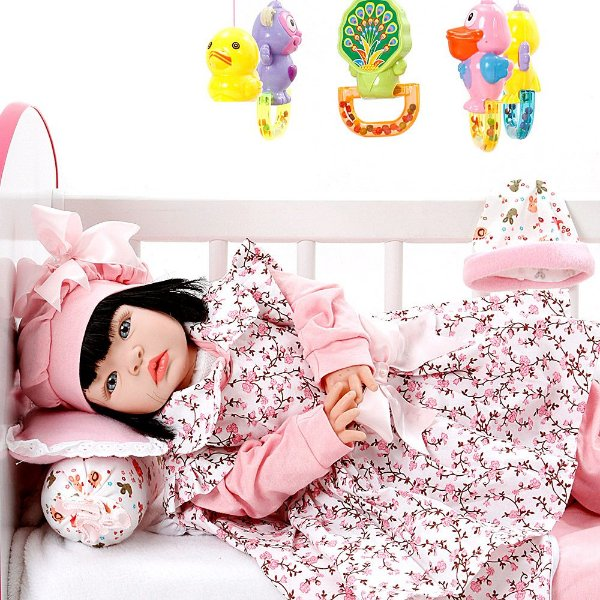 Boneca Bebe Reborn Floral Millie Cegonha Reborn Dolls Mais 22 Acessórios 53cm