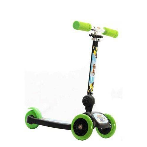 Patinete Infantil 3 Rodas Scooter Racing Club Verde- ZP00104