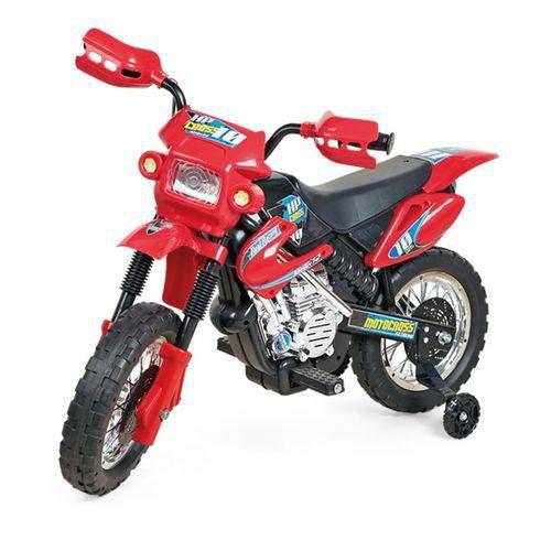 Brinquedo Moto Elétrica Infantil Motocross Vermelha