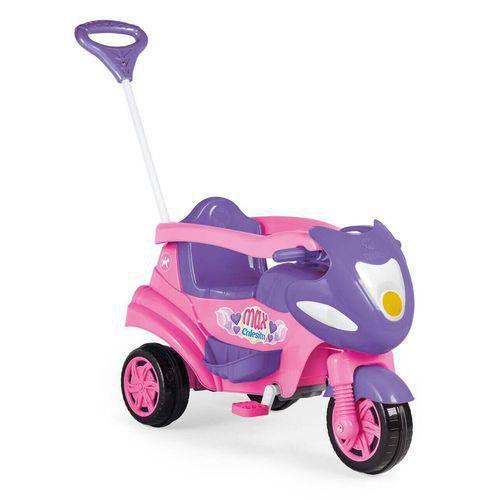 Triciclo Infantil Max Calesita Rosa 2 em 1