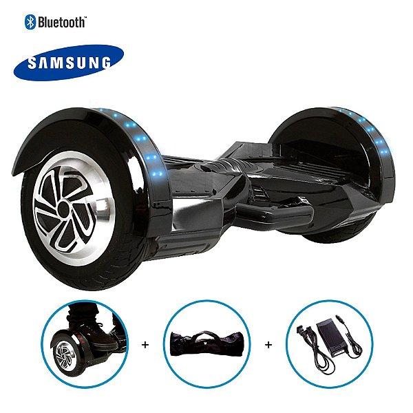 "Hoverboard 8"" Preto Hoverboard Bateria Samsung Bluetooth Smart Balance Com Bolsa"