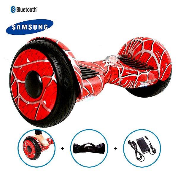"""Hoverboard 10,5"""" Homem Aranha HoverboardX  Bateria Samsung Bluetooth Smart Balance Spider Man Com Bolsa"""