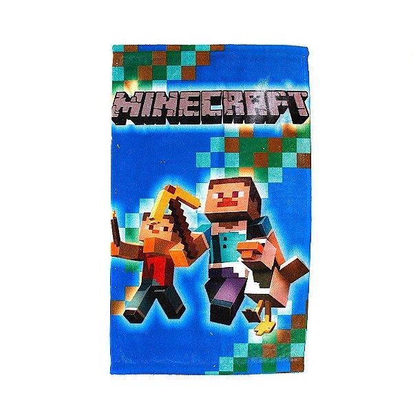 Toalha De Rosto Felpuda Minecraft Infantil Personagens