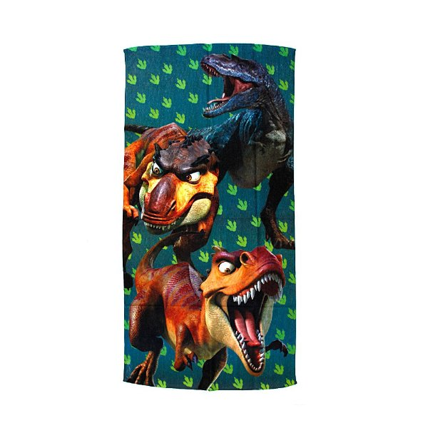 Toalha de Banho Felpuda Dinossauros Infantil Personagens