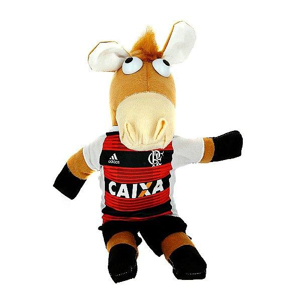 Cavalinho De Pelúcia Do Fantástico Do Time De Futebol Flamengo Alvinegro Do Brasileirão
