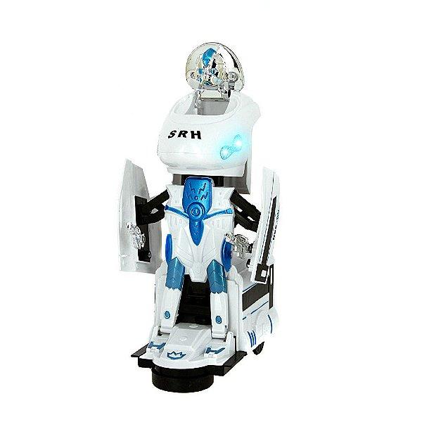 Brinquedo Trem De Combate Bate E Volta Transformers 2 em 1