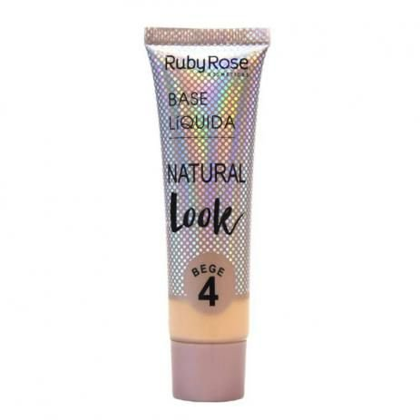Base Líquida Natural Look Bege 4 HB 8051B4 - Ruby Rose