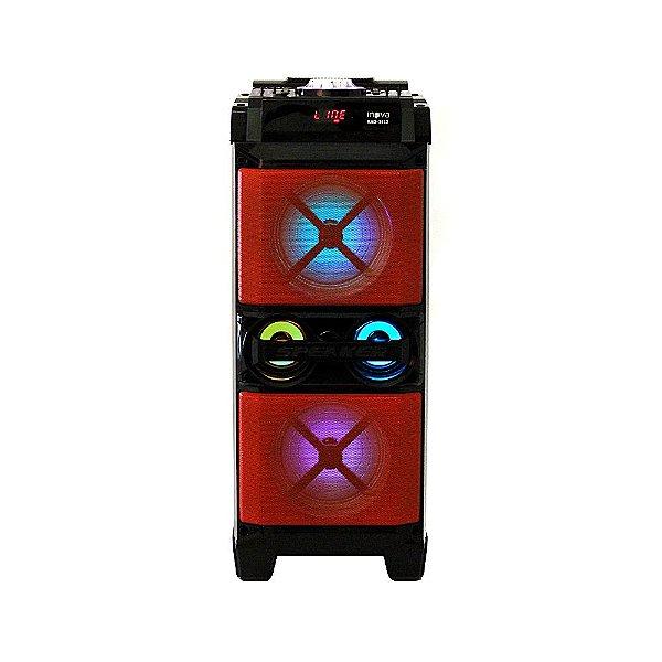 Super Alto Falante Multimédia Móvel Com Microfone Vermelha RAD-341Z - Inova