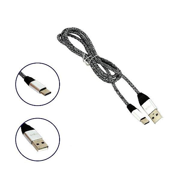 Cabo De Dados Reforçado USB Tipo C Listrado CBO-5689 - Inova