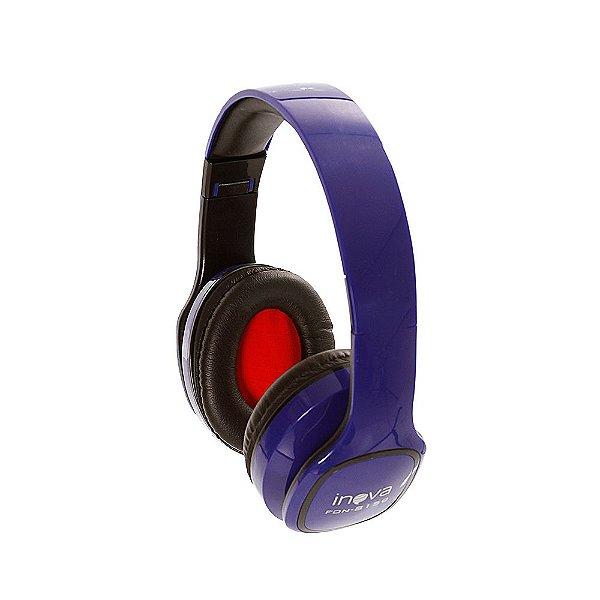Fone De Ouvido Estéreo Bluetooth Sem Fio FON-8159 - Azul - Inova