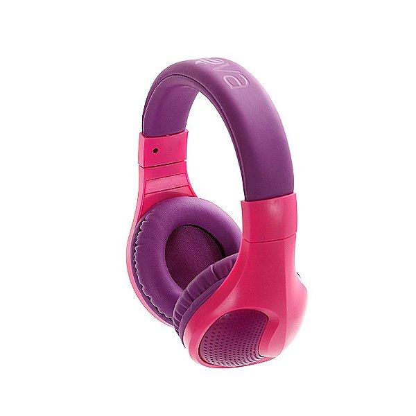 Fone De Ouvido Estéreo Sem Fio Com Microfone FON-6703 - Rosa E Roxo - Inova