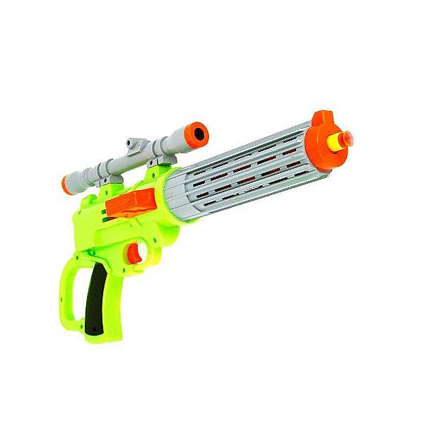 Brinquedo Infantil Estilo Nerf Pistola Com Mira Lançadora De Dardos Sharpshooter + Alvo Com 14 Dardos