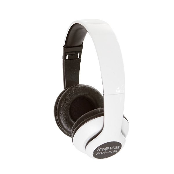 Fone De Ouvido Estéreo Bluetooth Sem Fio FON-8158 - Branco - Inova