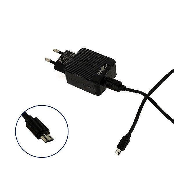 Carregador De Celular Para Viagem 15w USB 3.0 V8 CAR-G5094 - Preto - Inova