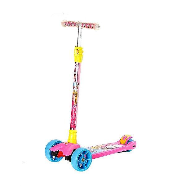 Patinete Infantil Sonho De Princesa Kit De Proteção - DMR5549