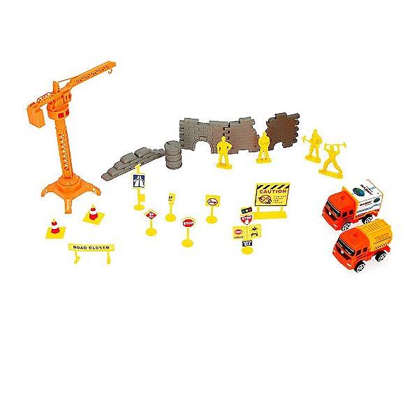 Super Kit Brinquedo Infantil Construção Civil Engineering Truck Contruct Kit Obra