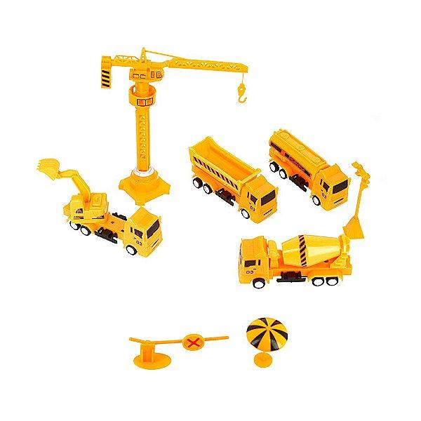 Kit Brinquedo Infantil Construção Civil Truck Under Construction Kit Obra