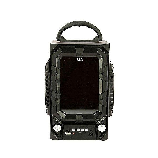 Caixa De Som Portátil Com Controle Remoto E Luz De LED - Preto - RAD-362Z - Inova