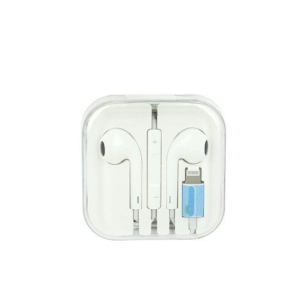 Fone De Ouvido Apple Com Fio E Bluetooth  Com Entrada Lightning De Iphone - Branco - FON-7304 - Inova