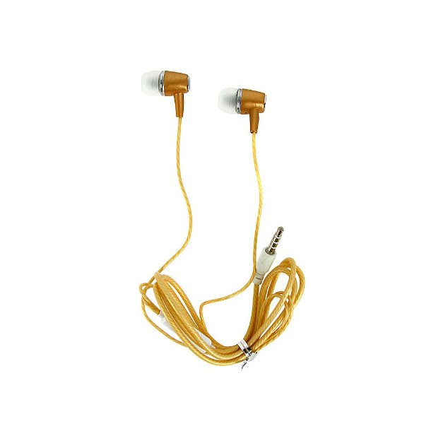 Fone De Ouvido Estéreo Com Design Inovador Dourado FON-6706 - Inova