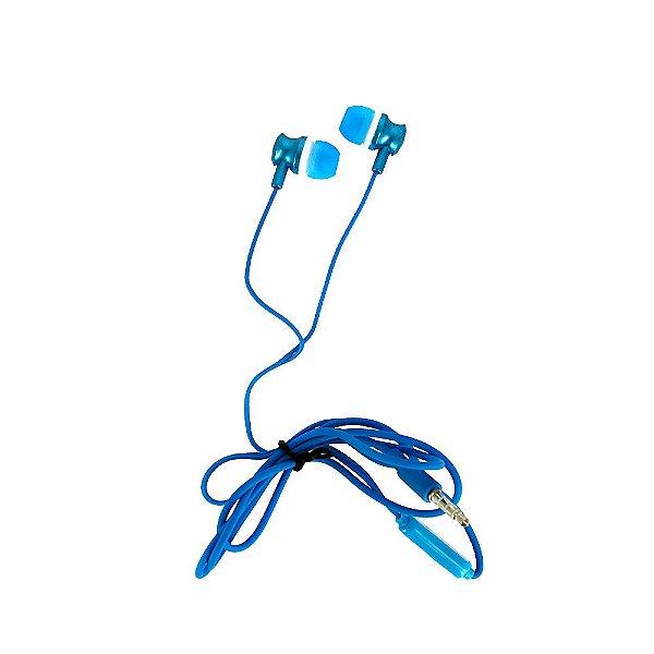 Fone De Ouvido Estéreo Com Design Aprimorado Azul FON-2101D - Inova