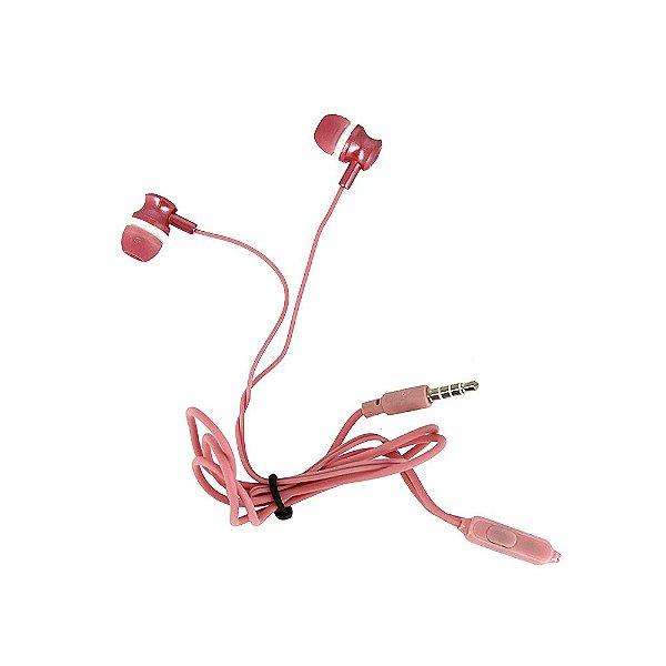 Fone De Ouvido Estéreo Com Design Aprimorado Rosa FON-2101D - Inova