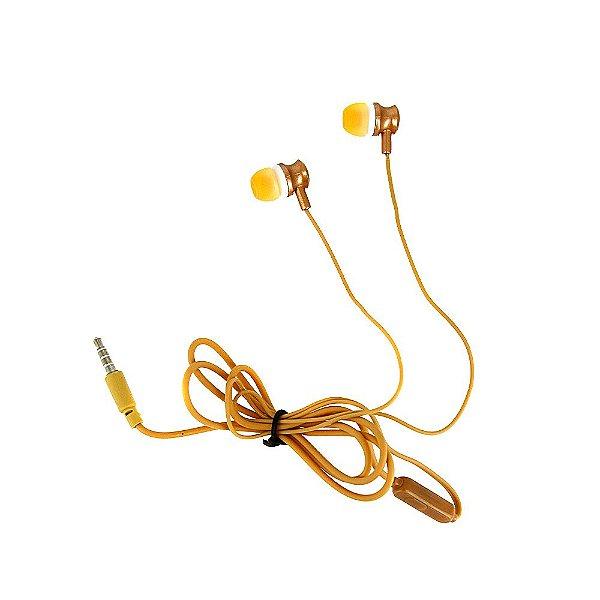 Fone De Ouvido Estéreo Com Design Aprimorado Dourado FON-2101D - Inova