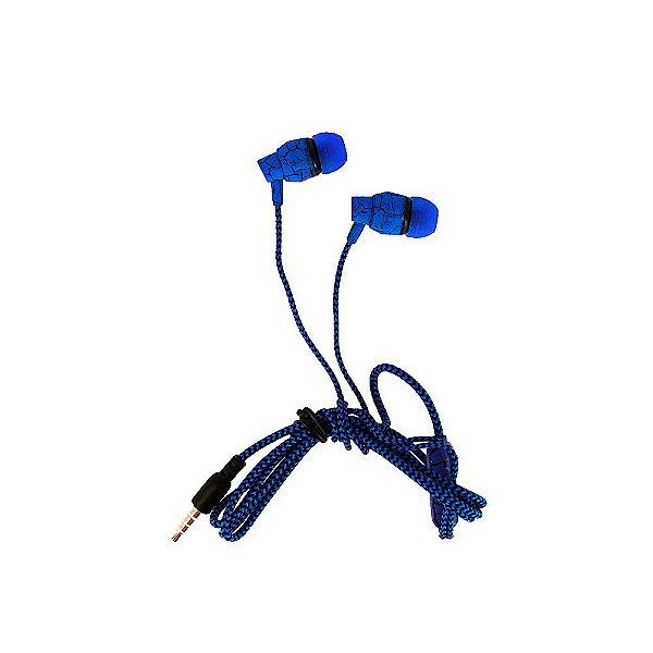 Fone De Ouvido Estéreo Intra-Auricular Listrado Azul e Preto FON-2114D - Inova