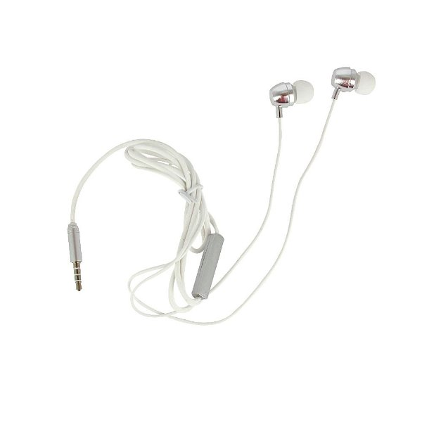 Fone De Ouvido Estilo DJ Intra-auricular Prata Cromado FON-2139D - Inova