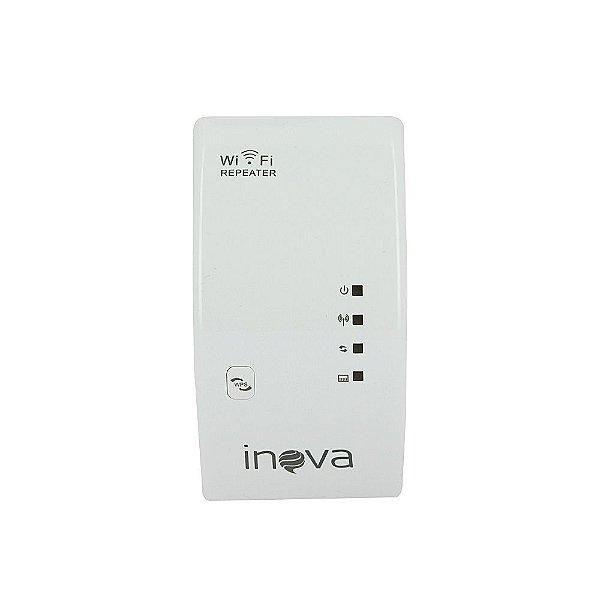 Receptor Repetidor De Wifi Wireless Branco ROU-6002 - Inova
