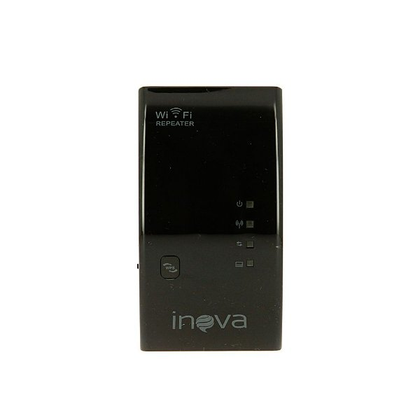 Receptor Repetidor De Wifi Wireless Preto ROU-6002 - Inova
