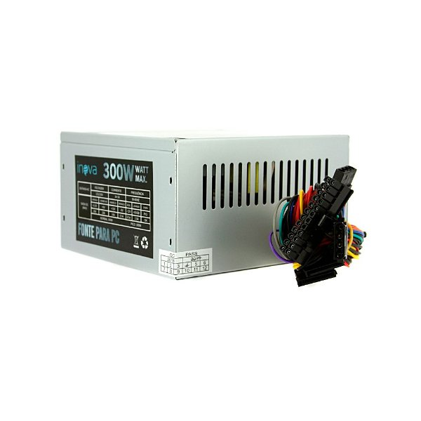 Fonte De Energia ATX Para Computador Silenciosa 300W  Bivolt De PC - PS-7295 - Inova