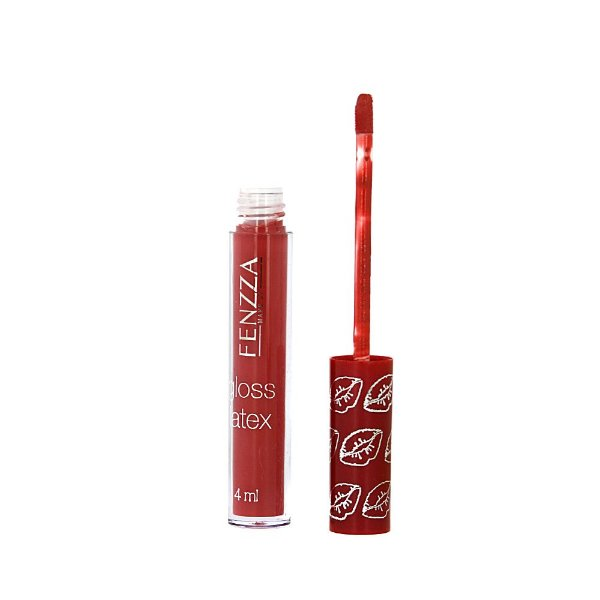Batom Gloss Líquido Fenzza Make Up Gloss Latex Maquiagem Número 01