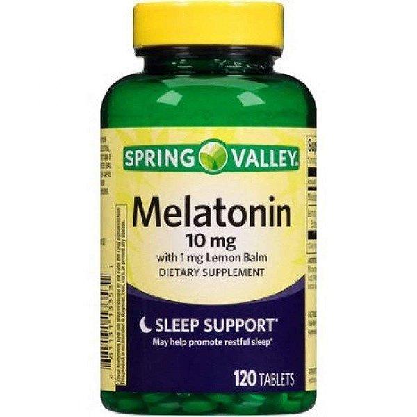 Suplemento Melatonina 10mg Spring Valley 120 Cápsulas