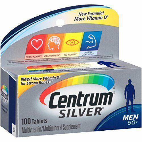 Multivitamínico Centrum Silver Homem 50+ 100 Comprimidos