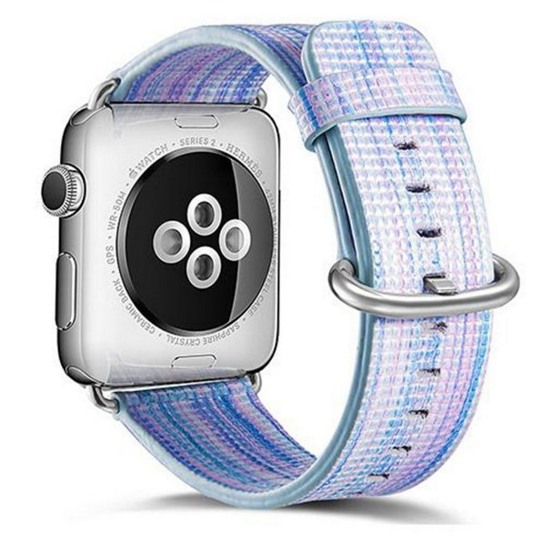 Pulseira Couro Colorido Para Apple Watch 42mm Azul