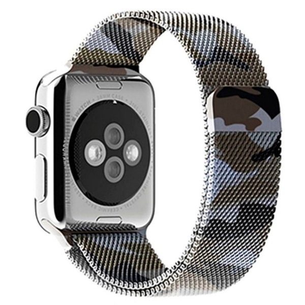 Pulseira Milanese Para Apple Watch 42mm - Camuflada Verde