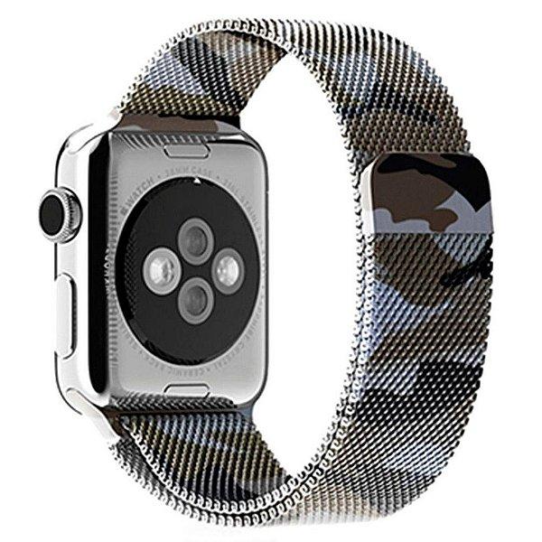 Pulseira Milanese Para Apple Watch 38mm - Camuflada Verde