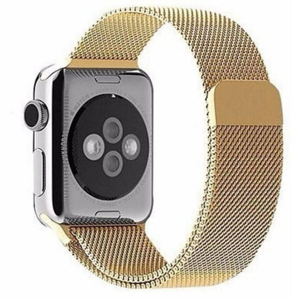 Pulseira Milanese Para Apple Watch 38mm - Dourado