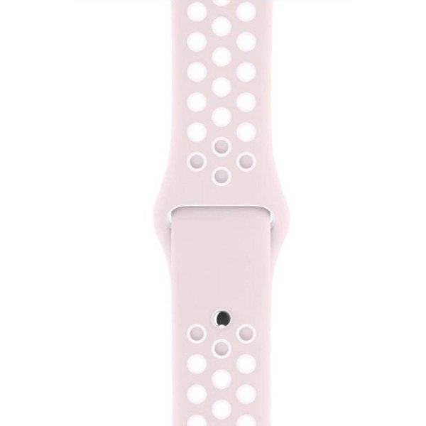 Pulseira Silicone Esportiva Para Apple Watch 42mm - Rosa Claro