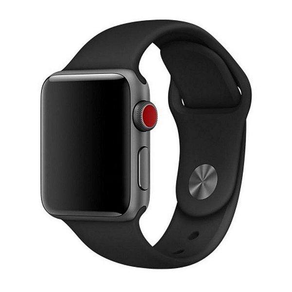 Pulseira Silicone Para Apple Watch 42mm - Preto